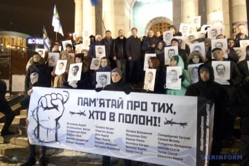 У центрі Києва провели акцію на підтримку полонених Росією моряків