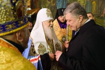 Poroshenko thanks Filaret for efforts to create autocephalous Orthodox Church