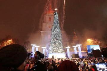 基辅点亮国家主圣诞树