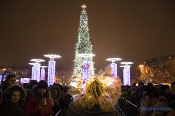 欧洲最美丽的圣诞树 - 在基辅!