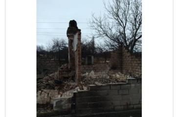 Ostukraine: Zwei Wohnhäuser in Ortschaft Piwdenne bei Beschuss der Besatzer abgebrannt - Fotos