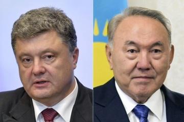 ポロシェンコ大統領とナザルバエフ・カザフスタン大統領、電話会談を実施