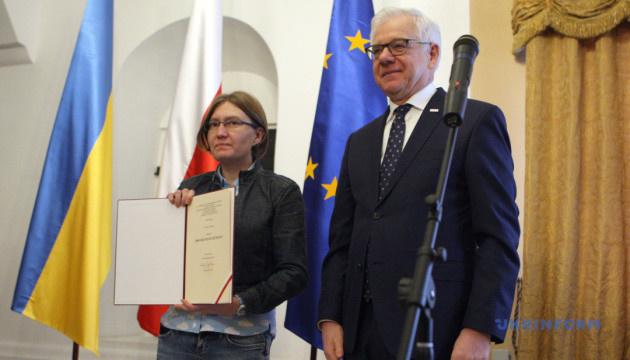 """Польща нагородила Сенцова відзнакою """"За людську гідність"""""""
