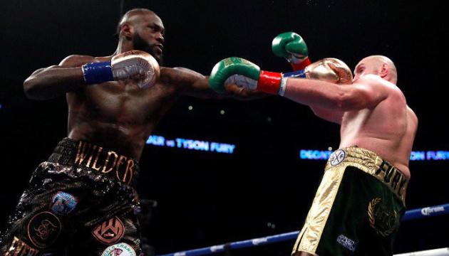 Бокс: Вайлдер не зміг перемогти Ф'юрі, але зберіг чемпіонський титул WBC