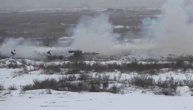 В Черниговской области ВСУ отрабатывают наступление и отражение атак
