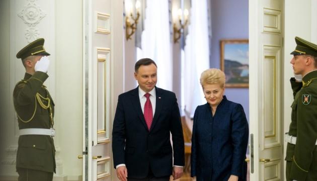Grybauskaite bespricht mit Duda Unterstützung der Ukraine in EU und NATO