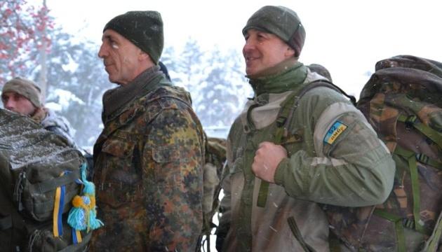 In der Ukraine starten Reservistenübungen - Fotos