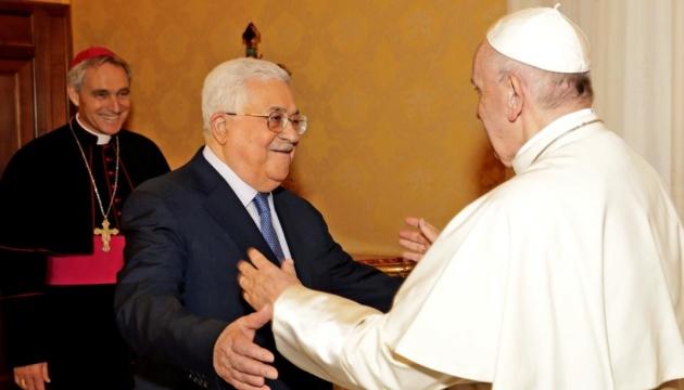 Папа Римський зустрівся з палестинським президентом у Ватикані