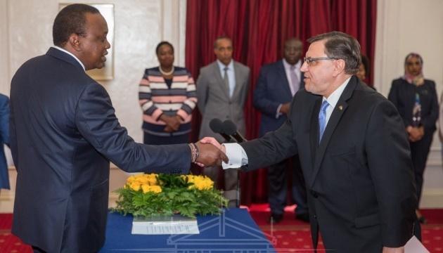 Ukrainian ambassador presents credentials to Kenyan president