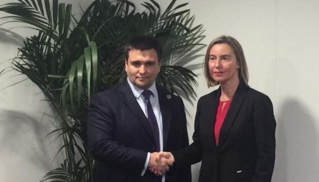 Klimkin spricht mit Mogherini über Verschärfung der EU-Sanktionen gegen Russland