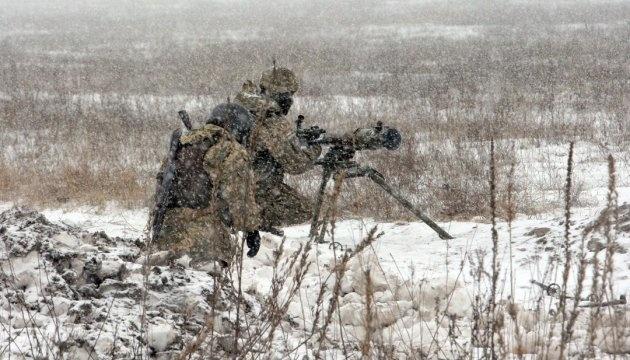 Оккупанты стреляли из 120-мм минометов на двух направлениях