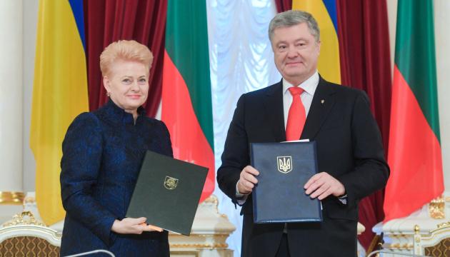 Poroshenko y Grybauskaitė firman una Hoja de Ruta para 2019-2020 (Fotos)