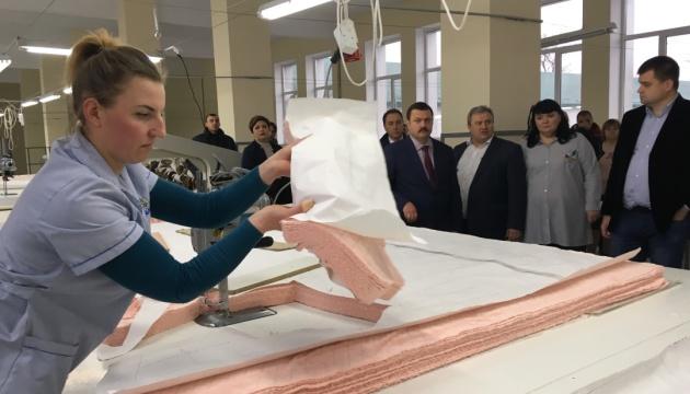 На Сумщине открыли текстильную фабрику