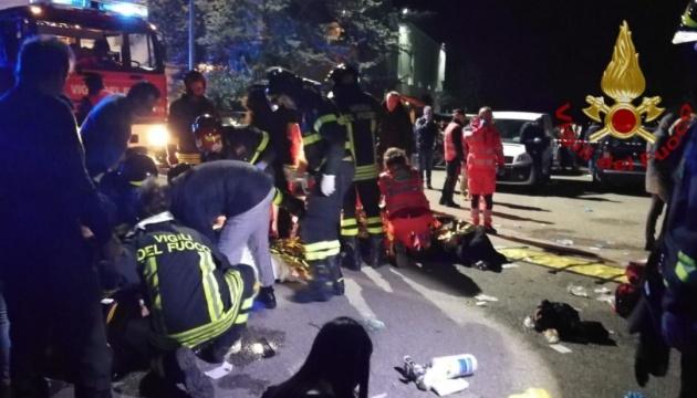 В Італії назвали причини тисняви в нічному клубі, що забрала 6 життів