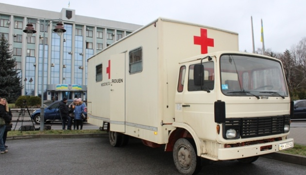 Госпиталь на колесах обустроили в Ривне