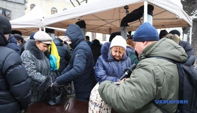В Киеве возле собора Святой Софии усилили охрану
