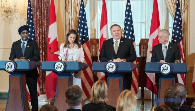 Штаты и Канада подтвердили общую готовность военного противодействия агрессии РФ