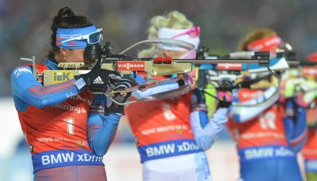 Биатлон: Италия выиграла эстафету, украинки - восьмые