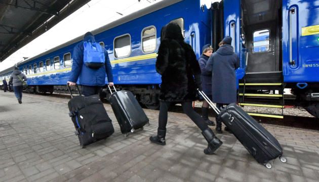 Пассажирооборот украинского транспорта уменьшился в 2,2 раза