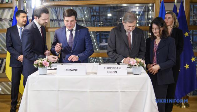 ウクライナ・EU連合評議会にて、4つの財政協定が署名