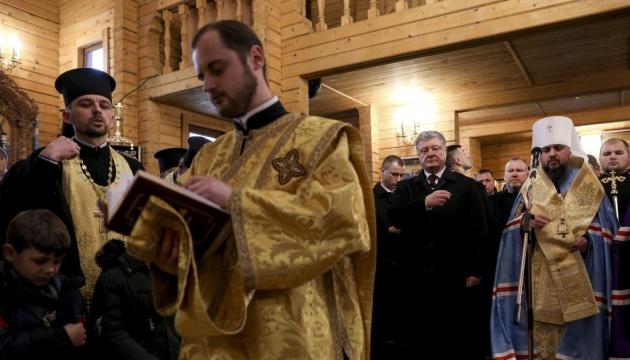 Poroschenko: Wir haben drei Zweige ukrainischer Orthodoxie in Eine Kirche vereinigt