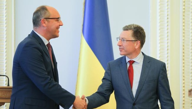 Parlamentschef Parubij trifft sich mit US-Sonderbeauftragten Volker