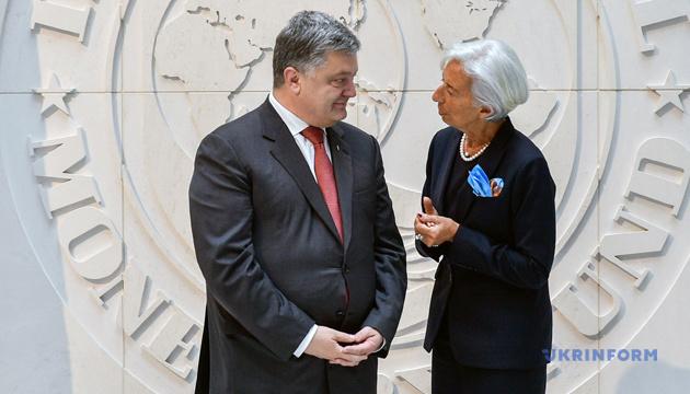 Poroshenko, Lagarde to discuss economy, investment in Davos