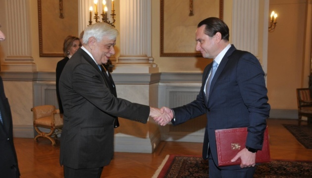 New Ukrainian ambassador begins diplomatic mission in Greece