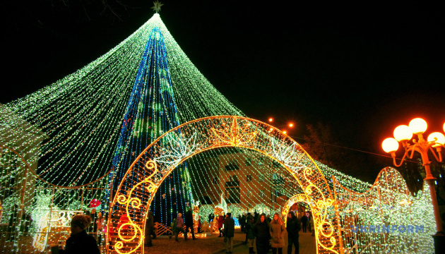 Parade of Christmas trees in different regions of Ukraine