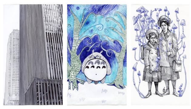 Київська галерея зібрала 1000 малюнків кульковою ручкою