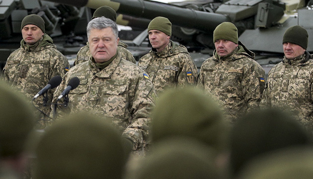 Порошенко: Ми й далі посилюватимемо бойові спроможності українського війська