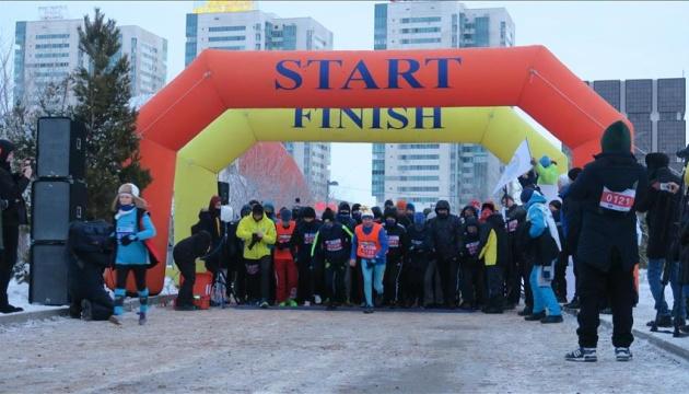 Зимовий марафон при 30-градусному морозі відбувся в Астані