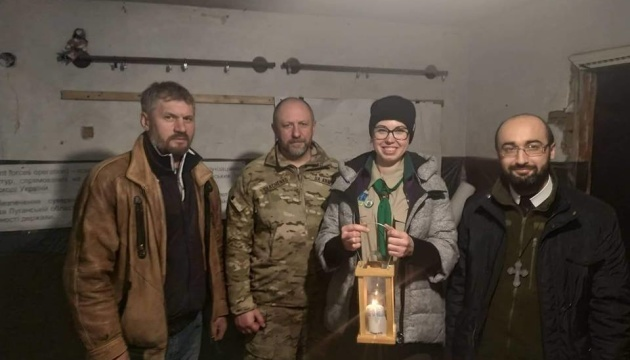 Bethlehem light brought to Joint Forces Operation area in Donbas. Photos