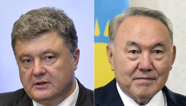 Poroshenko, Nazarbayev discuss security in occupied Crimea, Donbas