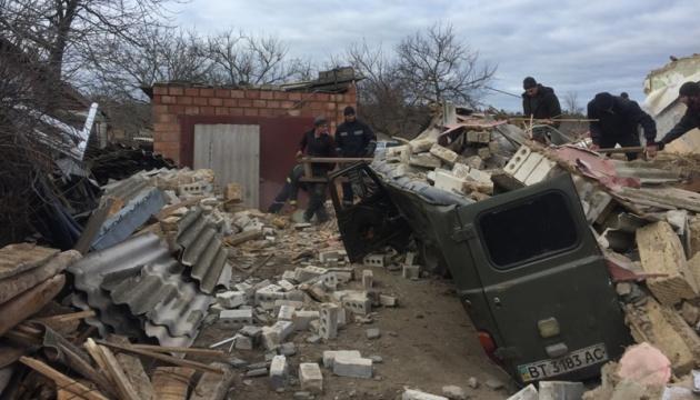 На Херсонщині вибух газу зруйнував житловий будинок, четверо постраждалих