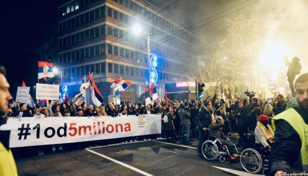 В Сербии ширятся акции протеста против президента