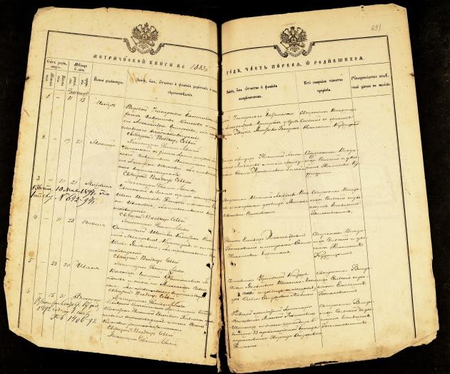Метричний запис про народження Михайла Донця / Джерело: ЦДІАК України