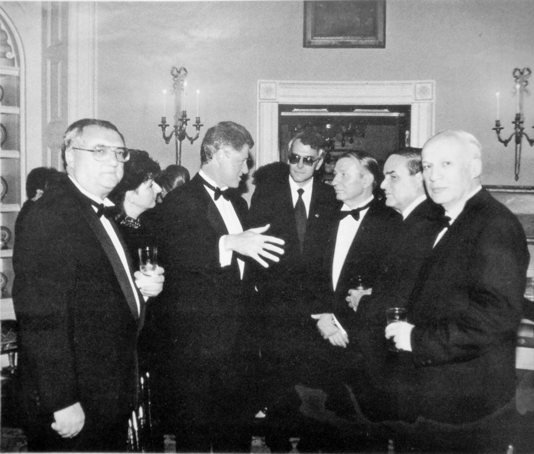 З Леонідом Кучмою і Біллом Клінтоном