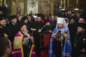 Епифаний поздравил Вселенского патриарха с юбилеем
