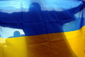 На Михайлівській площі провели флешмоб до Дня Прапора