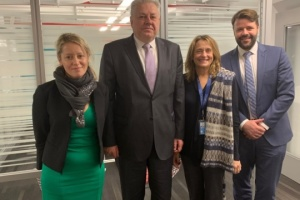 Yelchenko discusses situation in Donbas with UN OCHA Ukraine chief