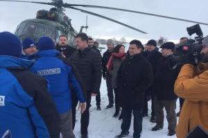 Le représentant de la  présidence tournante de l'OSCE s'est rendu dans le Donbass