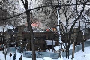Пожар на Грушевского локализовали