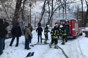Пожар в отселенном здании на Грушевского ликвидировали
