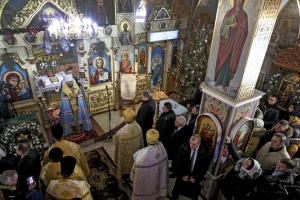 Порошенко у Борисполі взяв участь у подячному молебні з нагоди отримання Томоса