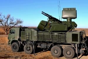 占领军在克里米亚演习中使用Pantsir-S防空系统