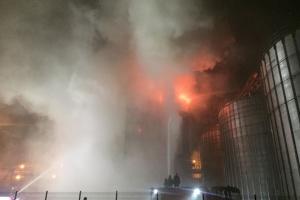 На Львовщине произошел пожар на масличном заводе