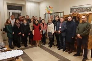 Українські студенти у Любліні завітали до Генконсульства з гучною різдвяною колядою