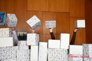 Діти загиблих та поранених учасників АТО/ООС з Житомирщини отримали подарунки з Польщі