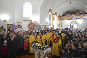 Порошенко приехал в кафедральный собор Житомира